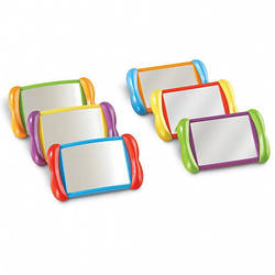 Набір дзеркал 2 в 1 «Все про мене» Логопедичний дзеркало Learning resources (6 шт)