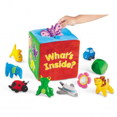 """Тактильный куб для малышей """"Что внутри?"""" Lakeshore"""
