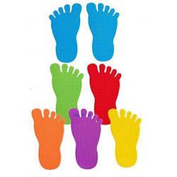 Різнокольорові сліди ніг (12 шт) EDX Education