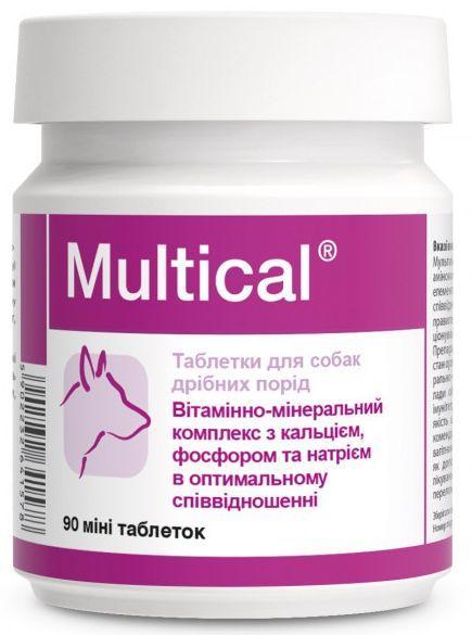 Мультикаль Міні Долфос вітамінний комплекс для правильного розвитку собак малих порід, 90 міні таблеток