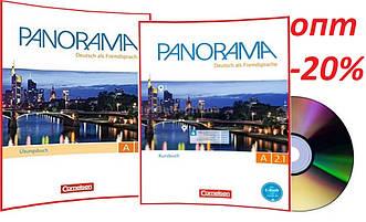 Немецкий язык / Panorama/ Kursbuch+Arbeitsbuch+CD. Учебник+Тетрадь (комплект), A2.1 / Cornelsen