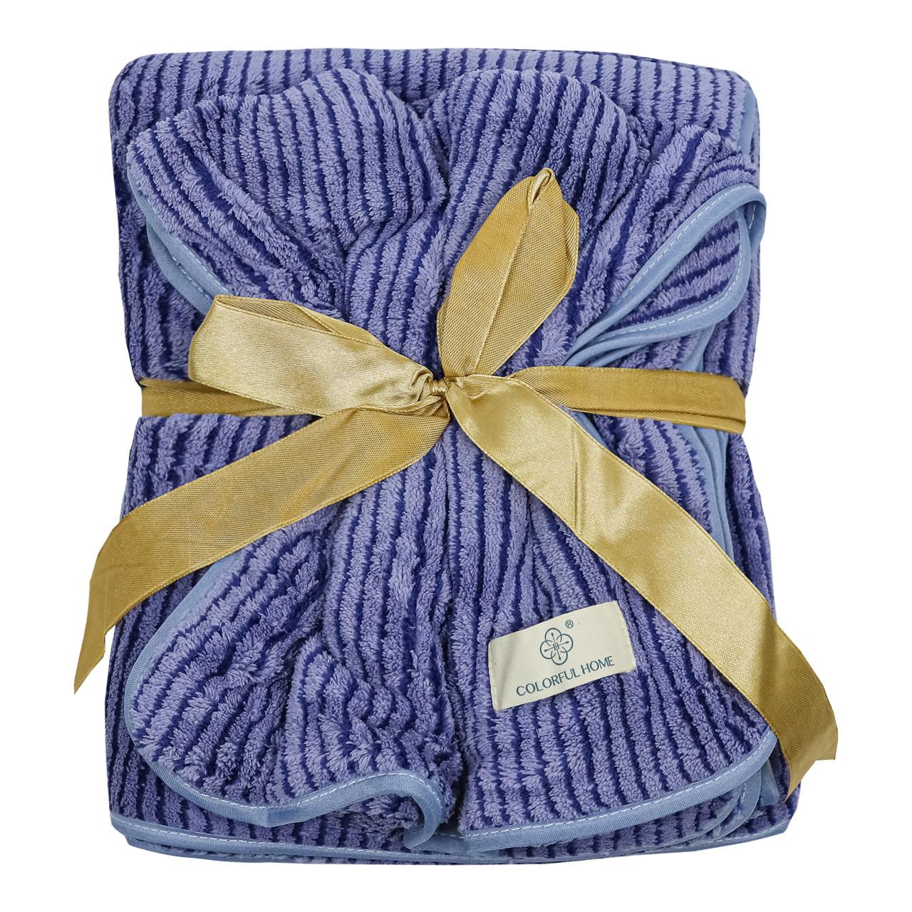 Набор полотенец подарочный для мужчин на кнопках микрофибра 140x70, 75x30см