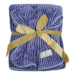 Набір рушників подарунковий для чоловіків на кнопках мікрофібра 140x70, 75х30см