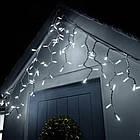 Гирлянда улица Бахрома 100 LED, Белая, белый провод, 5м., фото 2
