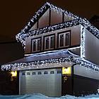Гирлянда улица Бахрома 100 LED, Белая, белый провод, 5м., фото 4