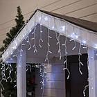 Гирлянда улица Бахрома 100 LED, Белая, белый провод, 5м., фото 6