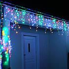 Гирлянда улица Бахрома 100 LED, Мультицветная RGB, белый провод, 5м., фото 2