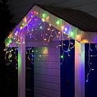 Гирлянда улица Бахрома 100 LED, Мультицветная RGB, белый провод, 5м., фото 3