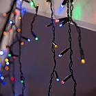 Гирлянда улица Бахрома 100 LED, Мультицветная RGB, черный провод, 5м., фото 5