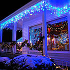Гирлянда улица Бахрома 100 LED, Голубая (Синяя), черный провод, 5м., фото 7
