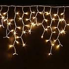Гирлянда улица Бахрома 100 LED, Золотая (Теплый белый, Желтая), черный провод, 5м., фото 9