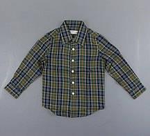 {есть:120 СМ} Рубашка для мальчиков Glo-Story,  Артикул: BCS8490-зелёный [120 СМ]