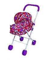 Іграшкова коляска CS4816 для ляльок і пупсів Рожева від 3 років