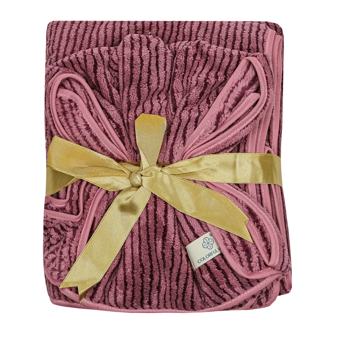 Набор полотенец подарочный мужской на кнопках микрофибра 140x70, 75x30см
