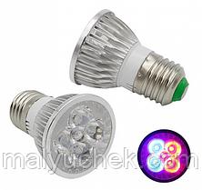 Світлодіодна фіто лампа DIY ELECTRONIX E27 (10Вт) для рослин GR-10