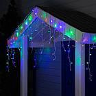 Гирлянда улица Бахрома 200 LED, Мультицветная RGB, белый провод, 10м., фото 2
