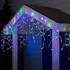 Гирлянда улица Бахрома 200 LED, Мультицветная RGB, белый провод, 10м., фото 6