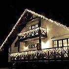 Гирлянда улица Бахрома 200 LED, Белая, черный провод, 10м., фото 5