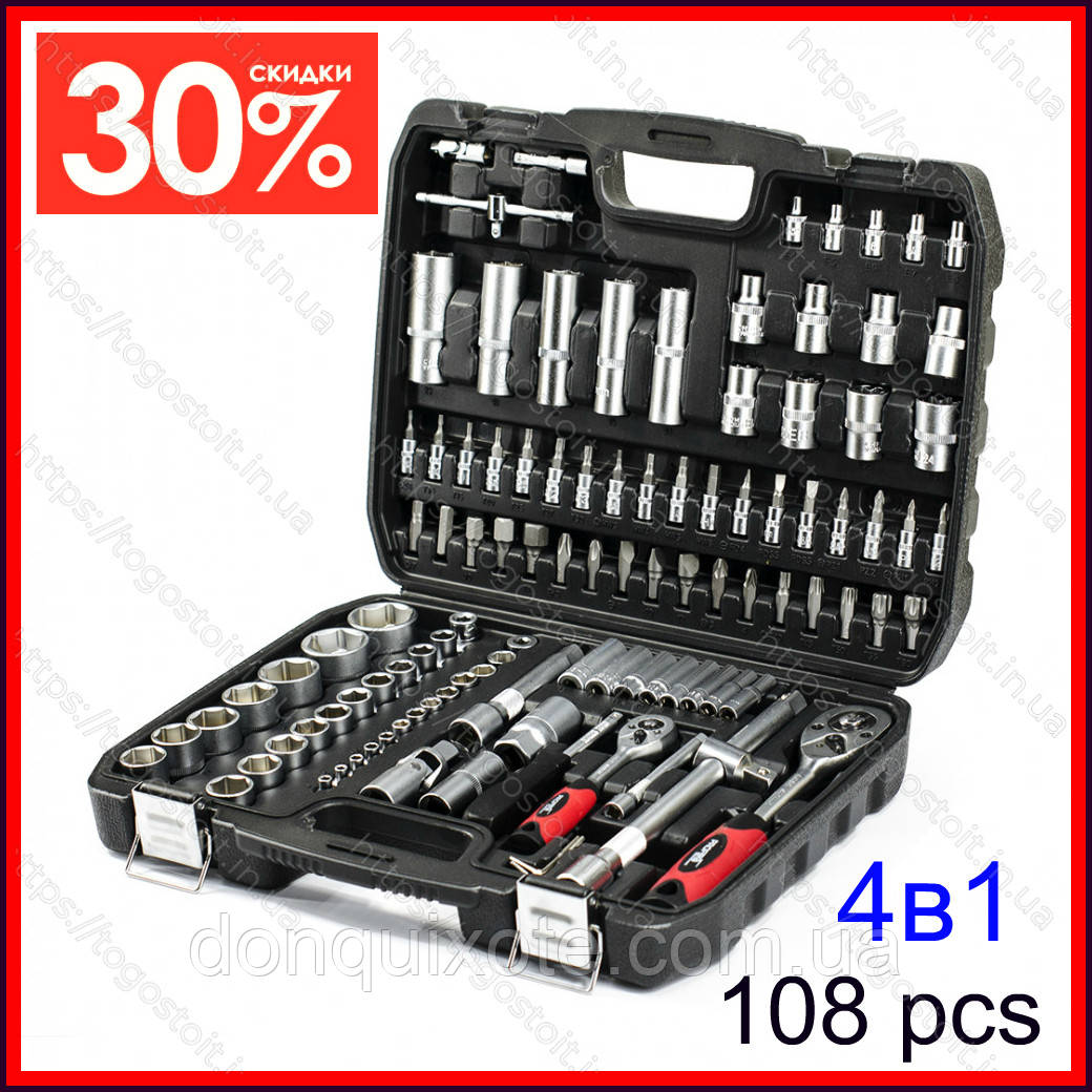 Набор ключей из 108 предметов Euro Craft. Набір ключів (Польша)