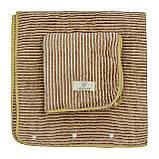 Набор мужских полотенец подарочный на кнопках микрофибра 140x70, 75x30см, фото 2