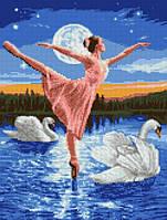 """Схема для вышивки бисером на габардине """"Лунный балет"""" Размер 27х35 см., фото 1"""