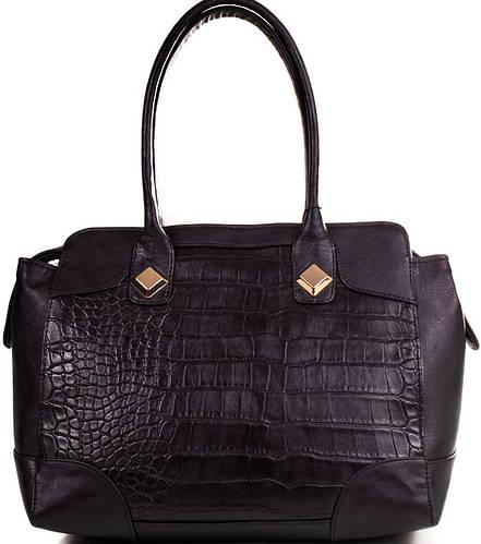 Практичная женская сумка из качественного кожезаменителя ETERNO (ЭТЕРНО) ETMS352302-black (черный)