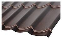 """Металлочерепица """"Монтеррей"""", RAL 8017 Цвет Шоколадно-коричневый, Monterrey (матовый)."""