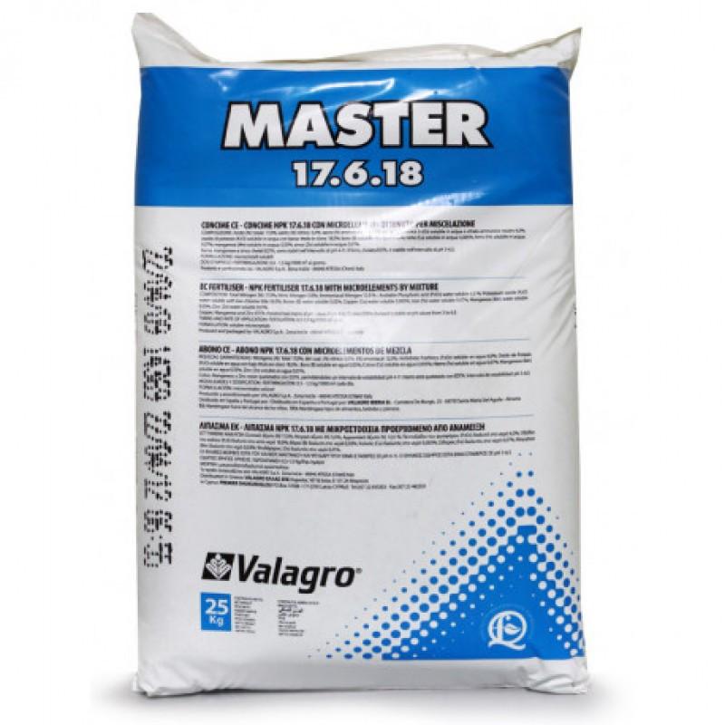 Комплексное удобрение Master (Мастер) 17.6.18, 25 кг, Valagro