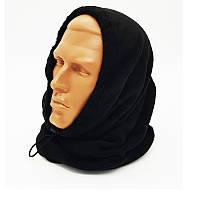 Зимний флисовый БАФ (шарф-труба)черный. НОВЫЙ, UA., фото 1