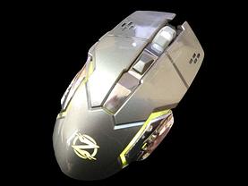 Бездротова безшумна акумуляторна миша Zornwee W880 Біло-жовта, фото 3