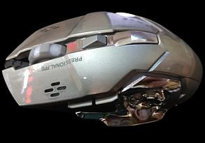 Бездротова безшумна акумуляторна миша Zornwee W880 Біло-жовта, фото 2