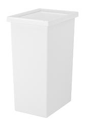 IKEA FILUR Пластиковая корзина с крышкой, 42 л, белая