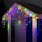 Гирлянда улица Бахрома 240  LED, Мультицветная RGB, белый провод, 10м., фото 3