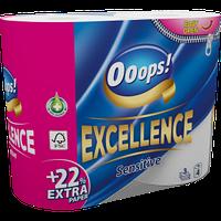Туалетний папір Ooops! 3-хслойная Excellence 4шт (150 відривів)