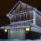 Гирлянда улица Бахрома 240 LED, Белая, черный провод, 10м., фото 2