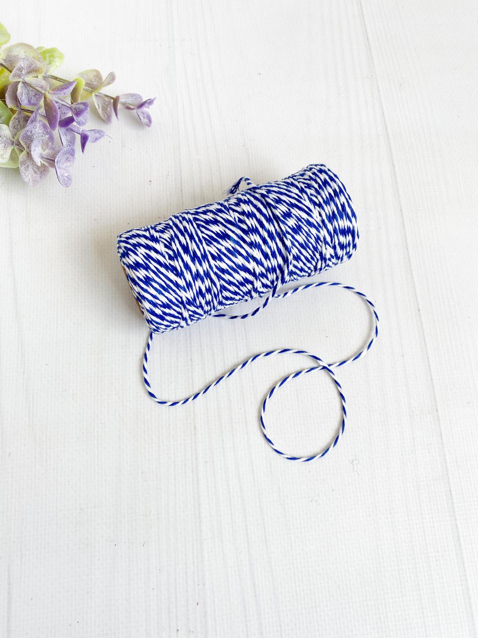 Шнур двухцветный 1,2 мм синий