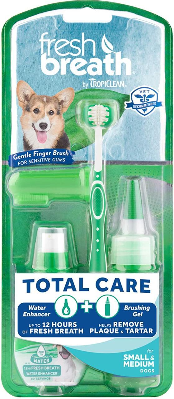 TropiClean Total Care Kit - набор для гигиены зубов кошек и малых пород собак