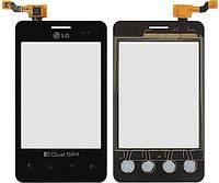 Сенсор (тачскрин) LG Optimus L3 Dual E405 (original) Black