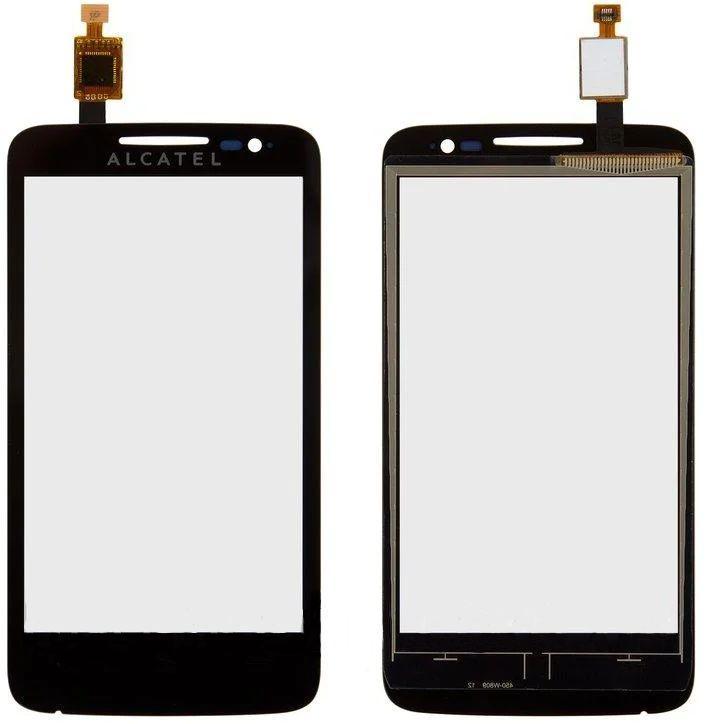 Сенсор (тачскрін) для телефону Alcatel One Touch 5020 El Pop, 5020D (original) Black