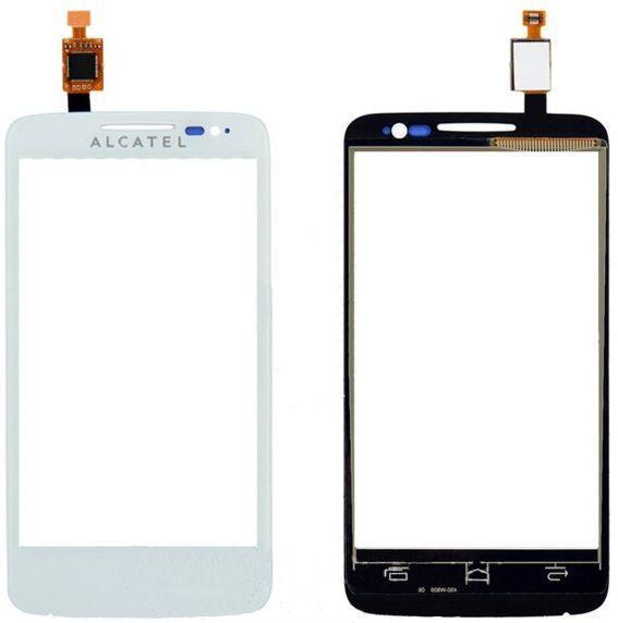 Сенсор (тачскрін) для телефону Alcatel One Touch 5020 El Pop, 5020D (original) White