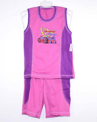 А.22.b.0743.р.64 /светло фиолетовый/ м.К-т тениска комб. с бриджами