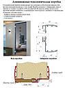 Алюминиевая коробка телескопическая для двери, обжимная (под добор толщиной 10 мм), фото 4