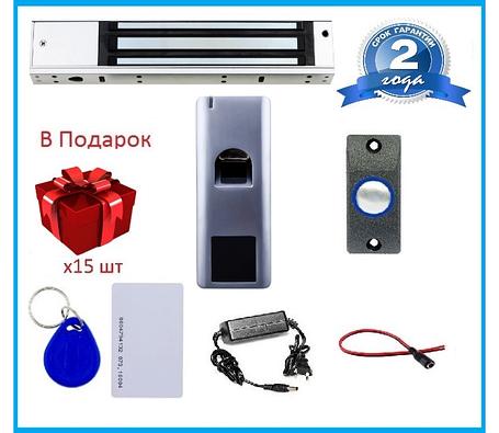 Биометрический комплект контроля доступа с магнитным замком для металлической двери SEVEN KA-7808, фото 2