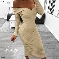 Женское стильное платье лапша миди Разные цвета, фото 1