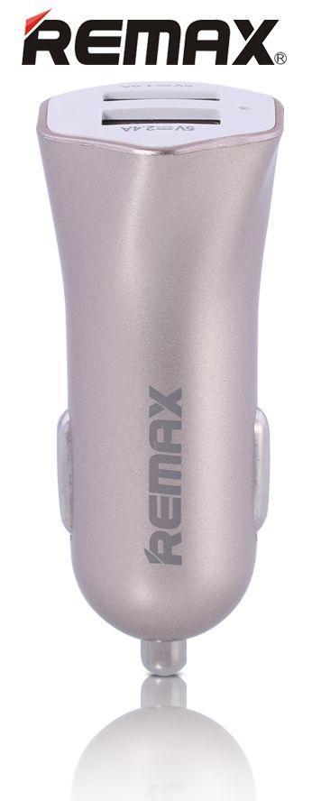 Автомобильное зарядное устройство  Remax Speed 7 Dual Usb Car Charger (2.4A) Gold RCC204