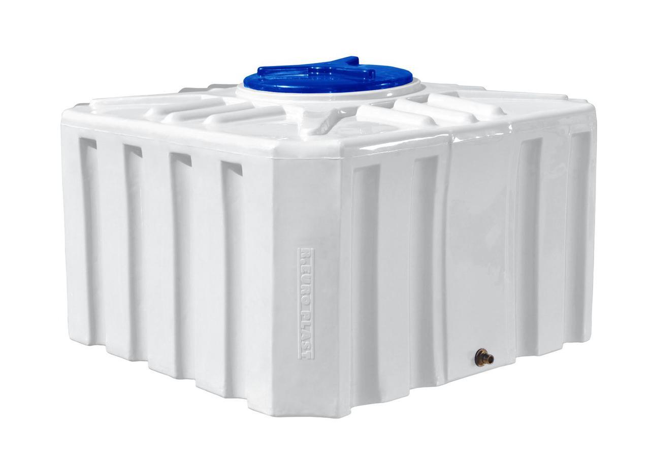 Квадратная емкость 500 литров бак, бочка усиленная для транспортировки пищевая RKО Куб