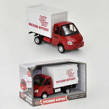 """Машинки инерция Газель """"Магазин игрушек"""" 9077 F (24/2) откр. двери, звук, свет, инерция, на батарейке, в"""