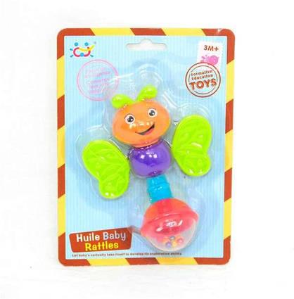 """Погремушка 939-9 """"Бабочка"""" (96/4) """"Huile Toys"""", на листе"""