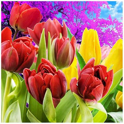 """Набор для творчества алмазная мозаика """"Дикие тюльпаны"""", 30*40 см, без рамки, H8260, фото 2"""