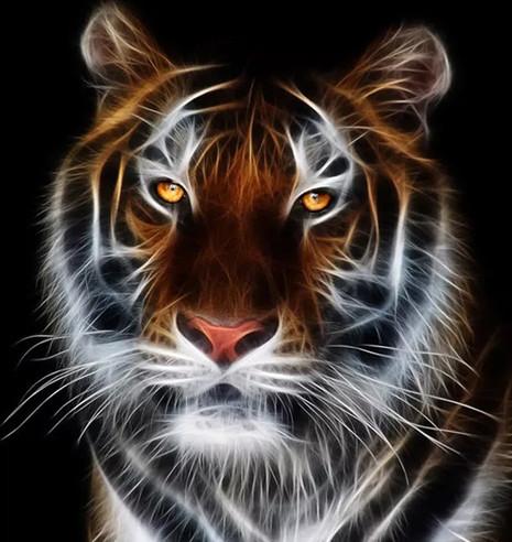 """Набор для творчества алмазная мозаика """"Желтоглазый тигр"""", 30*40 см, без рамки, H8065"""